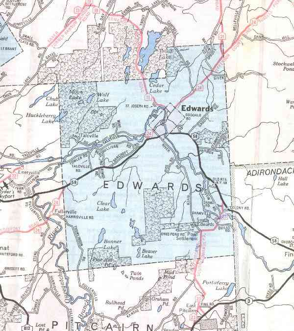 A map of Edwards